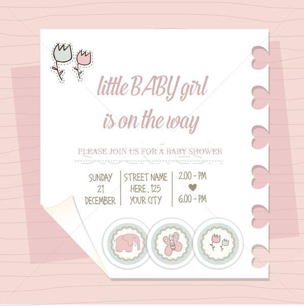 シャワー カード 赤ちゃん 幸せ 子 ストックフォト © balasoiu