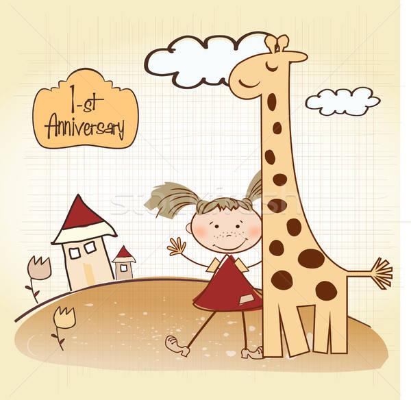 first birthday card Stock photo © balasoiu
