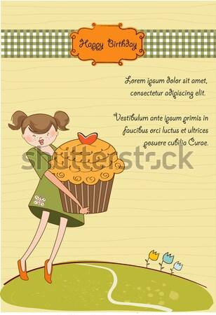 смешные ребенка мальчика объявление карт девушки Сток-фото © balasoiu