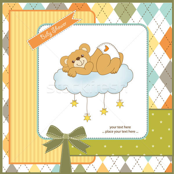 ребенка душу карт сонный мишка счастливым Сток-фото © balasoiu