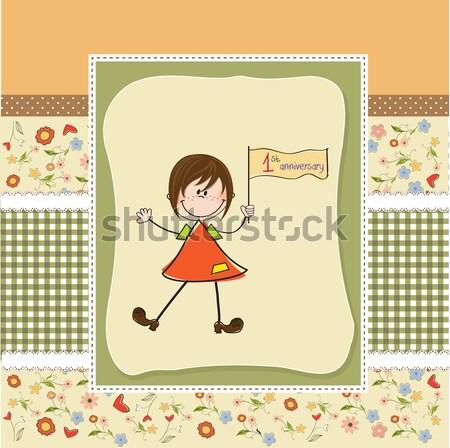 Stock fotó: Fiatal · lány · hinta · természet · madár · öröm · barátság