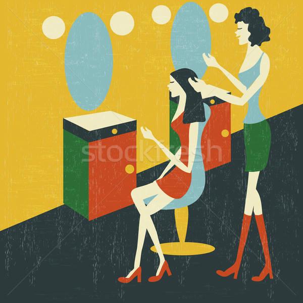 retro hairdressing salon Stock photo © balasoiu