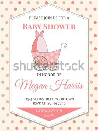 Doccia carta baby Foto d'archivio © balasoiu