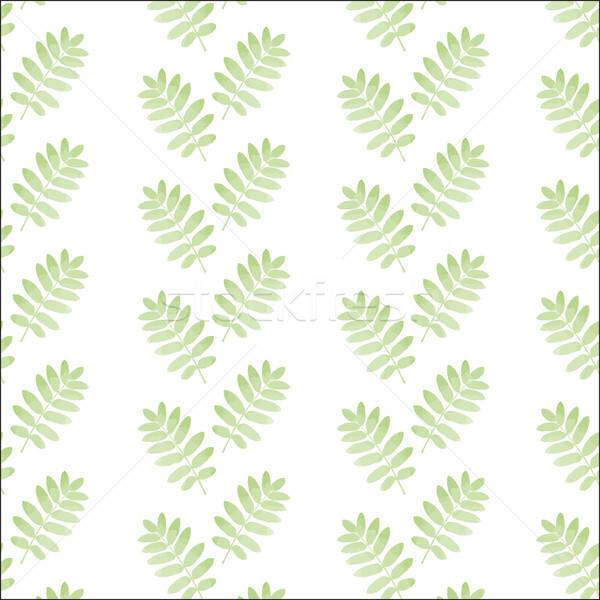 シームレス 手描き パターン 葉 ベクトル フォーマット ストックフォト © balasoiu