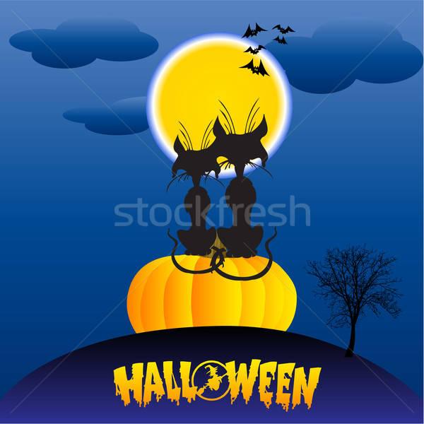halloween love Stock photo © balasoiu