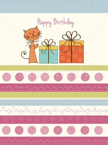 Birthday announcement card Stock photo © balasoiu