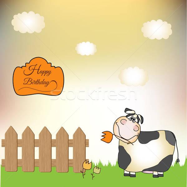 Vaca ilustração vetor formato negócio Foto stock © balasoiu