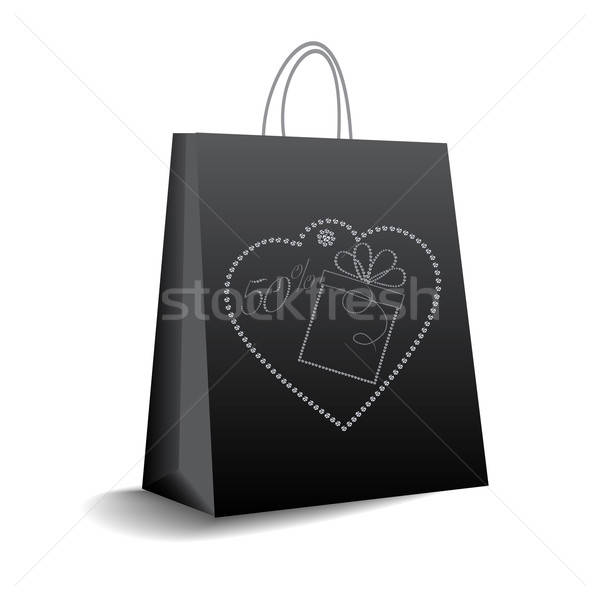 Bolsa de compras vetor formato negócio assinar caixa Foto stock © balasoiu