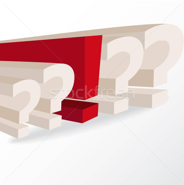 business decision, conceptual illustration with question marks a Stock photo © balasoiu