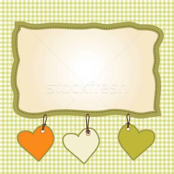 Stockfoto: Sjabloon · frame · ontwerp · wenskaart · voorjaar · bruiloft