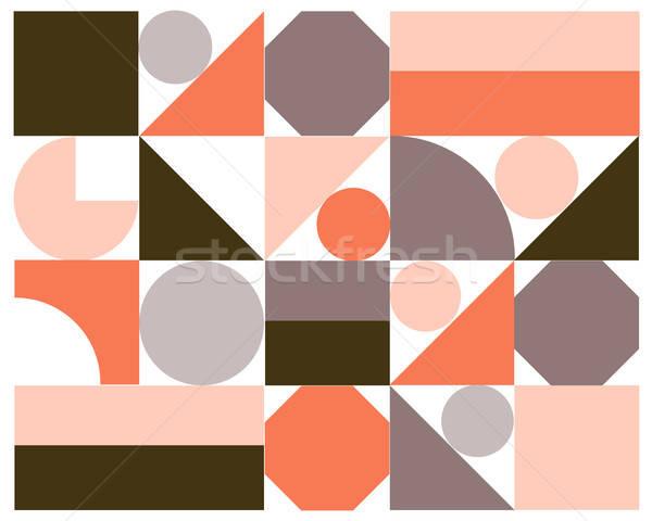 Vektör soyut renkli geometrik eps10 dizayn Stok fotoğraf © balasoiu