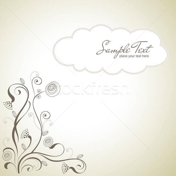 seamless pattern background with flowers Stock photo © balasoiu
