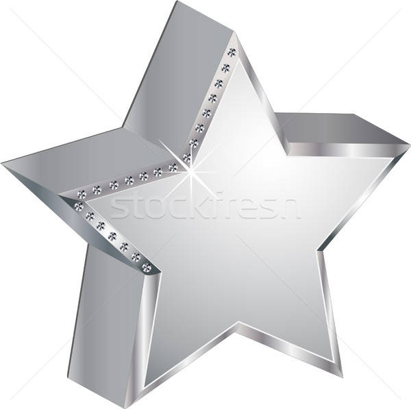 Estrellas diamantes lujo plata brillante vector Foto stock © balasoiu
