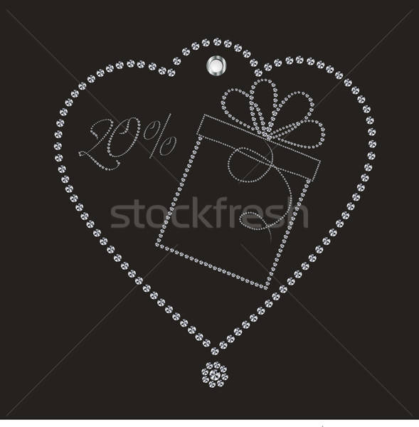 Luxury discount label Stock photo © balasoiu