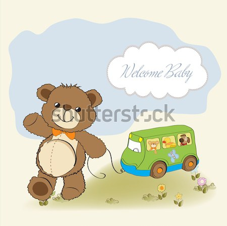 happy woman going on holiday by car Stock photo © balasoiu