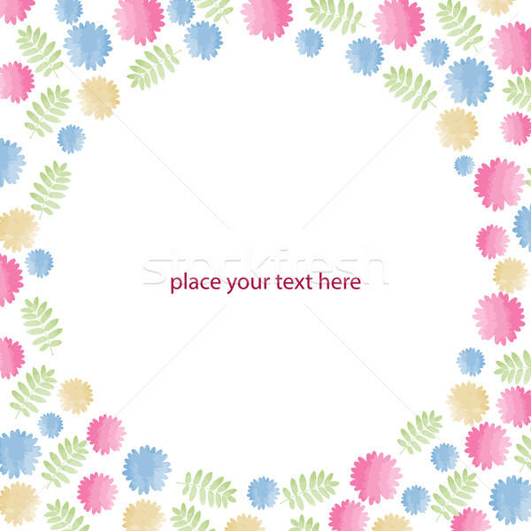 Greeting card with flowers, watercolor, can be used as invitatio Stock photo © balasoiu