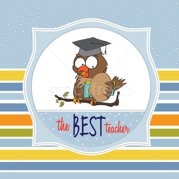Baykuş öğretmen vektör format kolej üniversite Stok fotoğraf © balasoiu