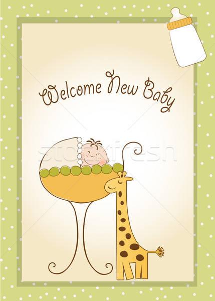 baby shower announcement Stock photo © balasoiu