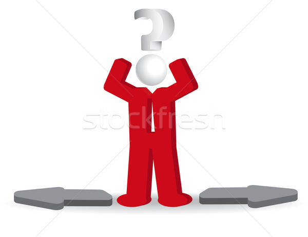 Uomo d'affari persona punto di domanda confusione uomo abstract Foto d'archivio © balasoiu