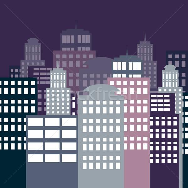 city at night Stock photo © balasoiu