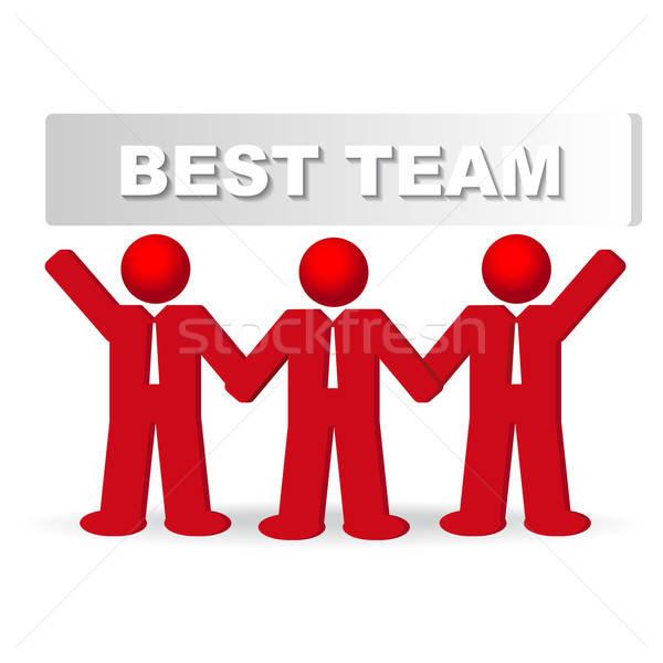 Trois hommes d'affaires meilleur équipe affaires affaires Photo stock © balasoiu