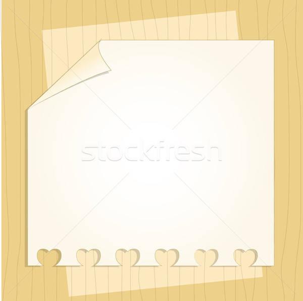 Modelo quadro projeto cartão casamento aniversário Foto stock © balasoiu