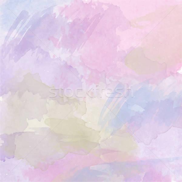 Absztrakt vektor vízfesték színes sablon hely Stock fotó © balasoiu