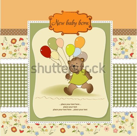 customizable greeting card with teddy bear  Stock photo © balasoiu