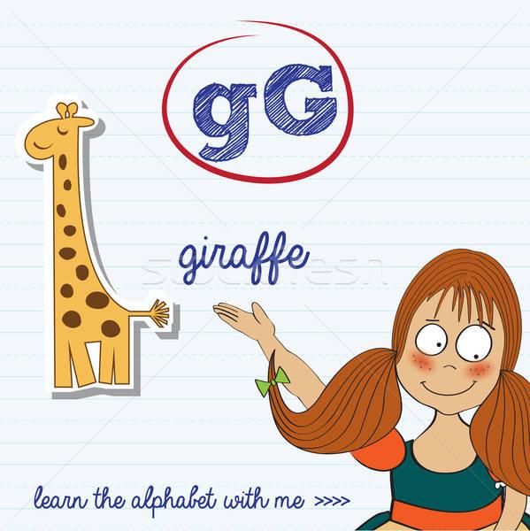 alphabet worksheet of the letter g Stock photo © balasoiu