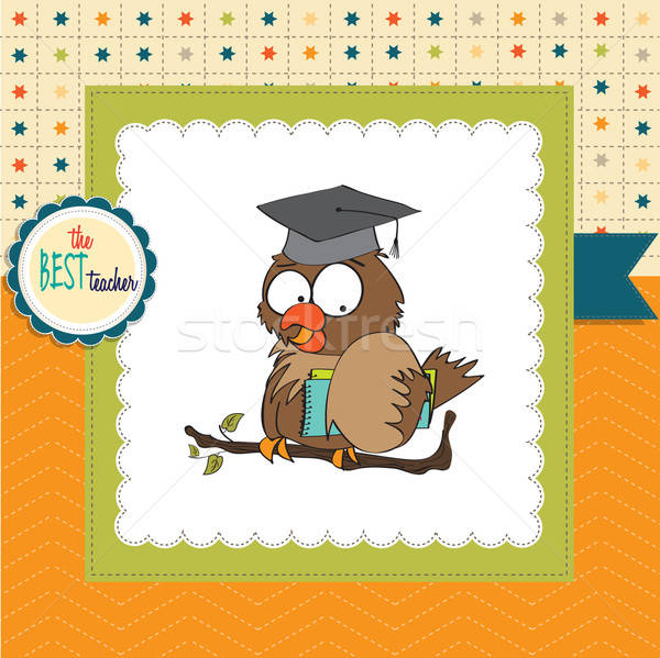 Owl Teacher in vector format Stock photo © balasoiu