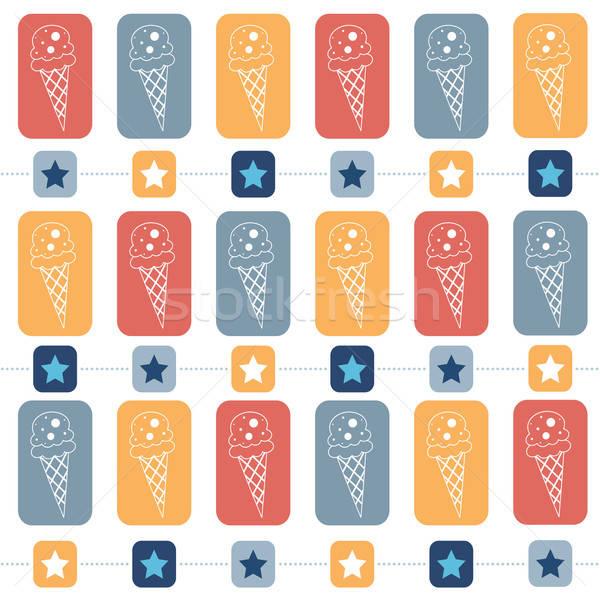 Icecream vector formaat voedsel achtergrond Stockfoto © balasoiu