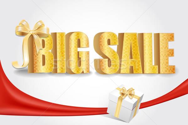 3D big sale, made of pure, beautiful luxury gold Stock photo © balasoiu