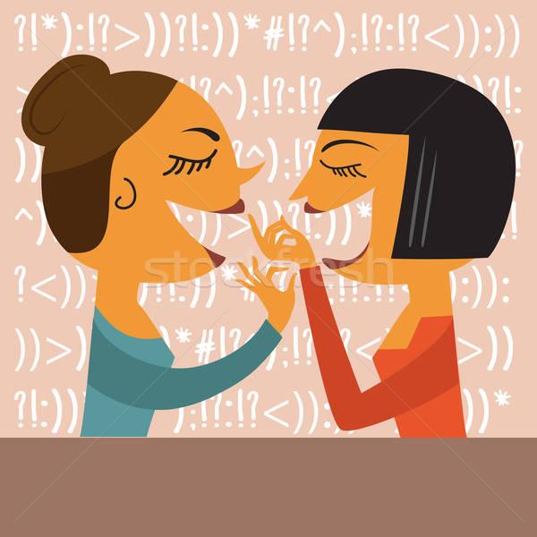 Gossiping Women Stock photo © balasoiu