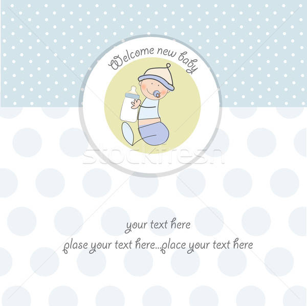 new baby announcement card with kid Stock photo © balasoiu
