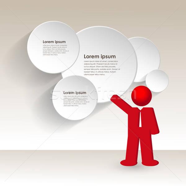 Człowiek biznesu strategia biznesowa działalności spotkanie ściany finansów Zdjęcia stock © balasoiu