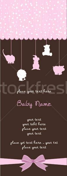 Baby douche kaart gelukkig abstract kind Stockfoto © balasoiu