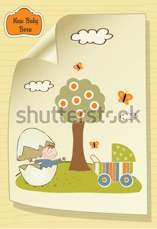 Baby kaart douche illustratie vector formaat Stockfoto © balasoiu