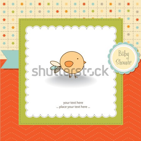 delicate baby boy shower card Stock photo © balasoiu