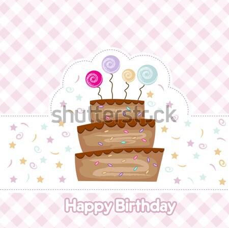 sexy young woman sitting on a big cake Stock photo © balasoiu