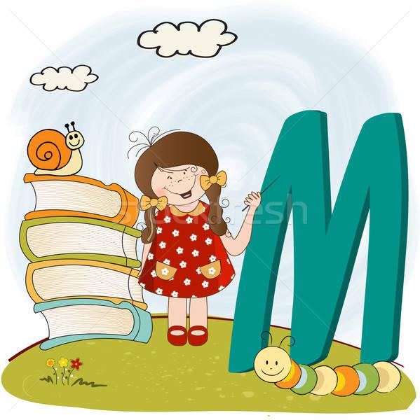 children alphabet letters Stock photo © balasoiu