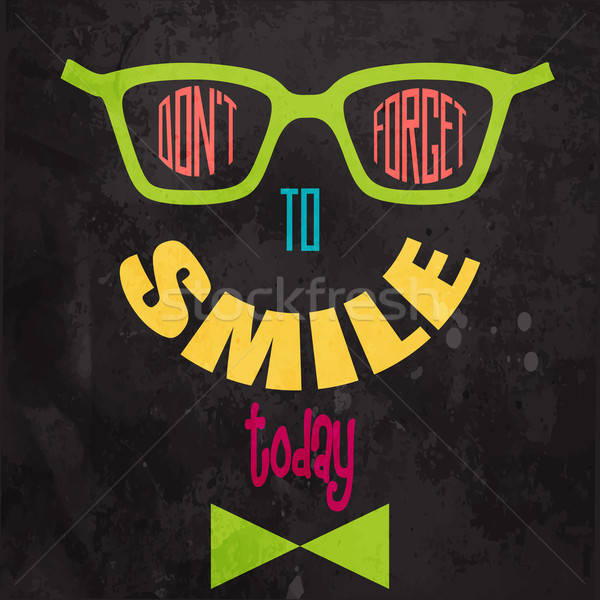 Don't forget to smile! Motivational background Stock photo © balasoiu