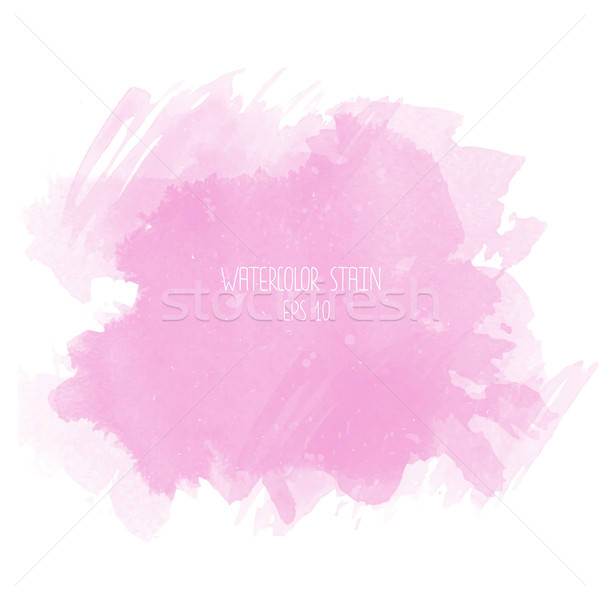 Pink watercolor stain on white background Stock photo © balasoiu