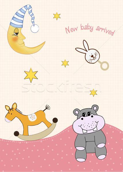 baby arrival card Stock photo © balasoiu