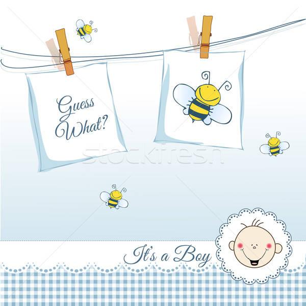 Bebé nino anuncio nubes amor feliz Foto stock © balasoiu