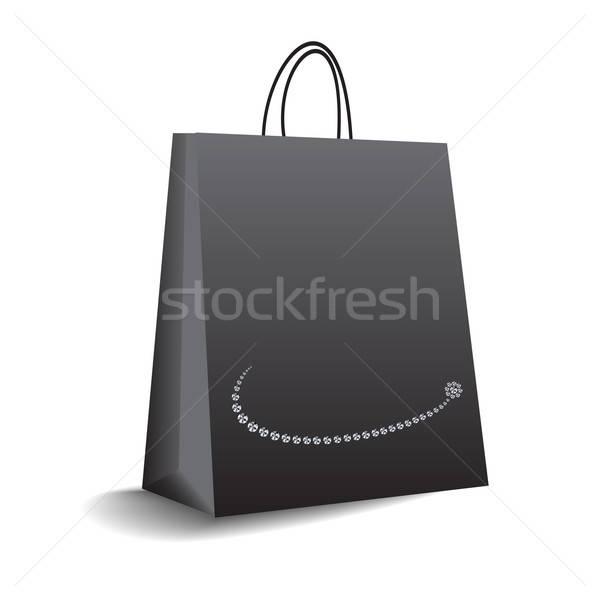 Boodschappentas vector formaat business teken vak Stockfoto © balasoiu