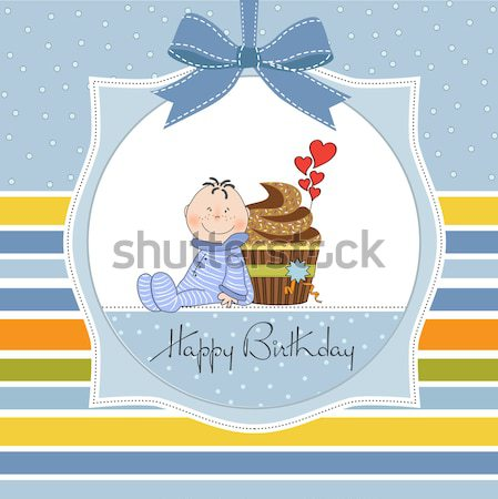 funny baby shower card Stock photo © balasoiu