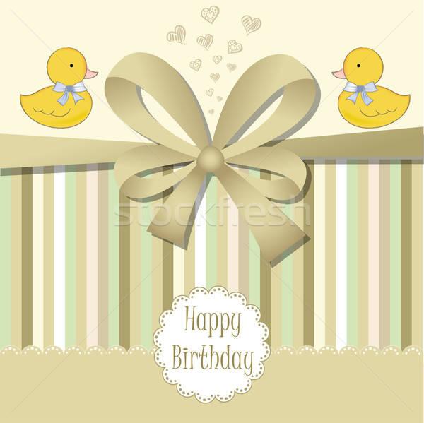 happy birthday card Stock photo © balasoiu