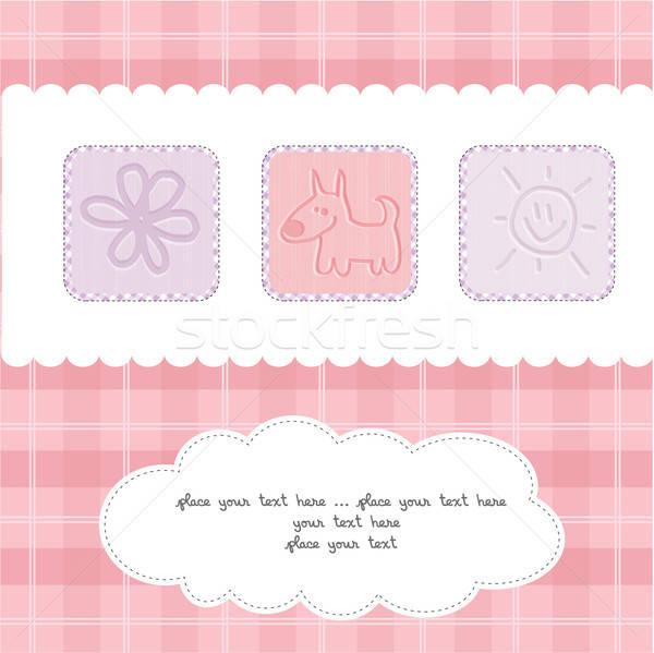 Welcome the New Baby Card Stock photo © balasoiu