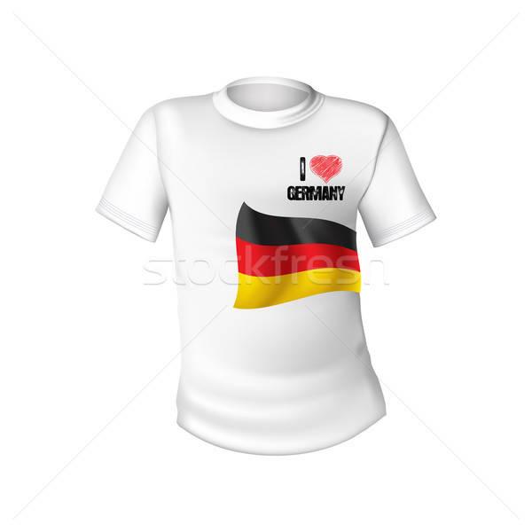 German t-shirt flag Stock photo © balasoiu