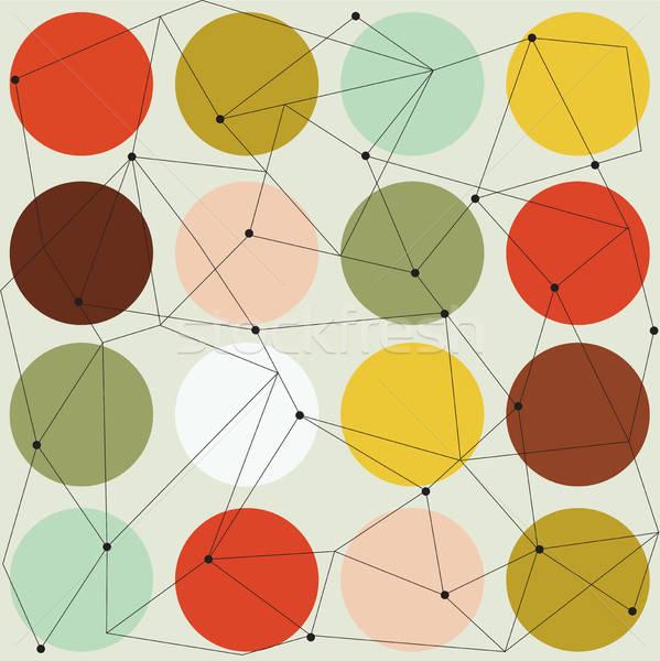 scandinavian geometric modern seamless pattern Stock photo © balasoiu